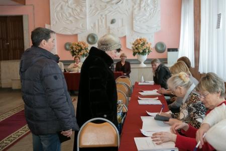 Александр Евстифеев проголосовал на выборах Президента России