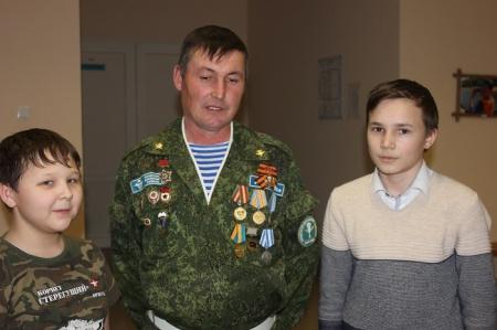 Встреча воспитанников с ветераном боевых действий в Афганистане