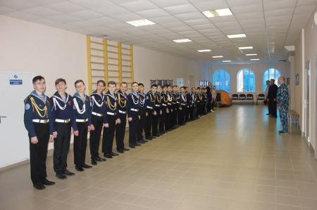 Юные моряки на встрече с ветераном-речником