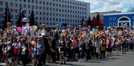 Маршрут движения колонны акции «БЕССМЕРТНЫЙ ПОЛК» в Йошкар-Оле 9 мая 2019 г.
