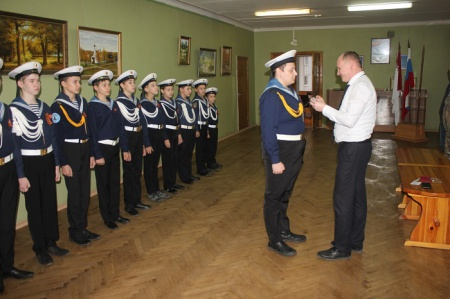 Награды для юных моряков