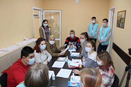 Встреча министра молодежной политики, спорта и туризма Республики Марий Эл Лидии Батюковой и волонтеров
