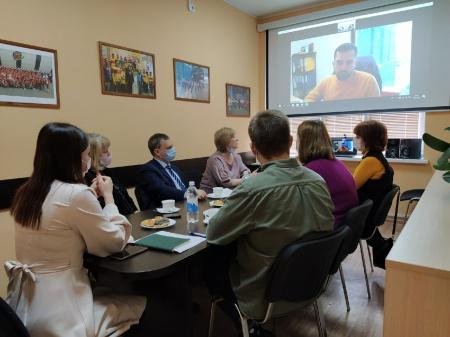 Деловая встреча с представителями Ассоциации волонтёрских центров